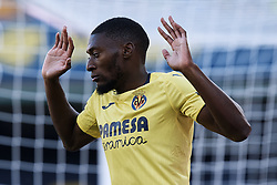 September 30, 2018 - Villarreal, Castellon, Spain - Toko Ekambi of Villarreal CF reacts during the La Liga match between Villarreal CF and Real Valladolid at Estadio de la Ceramica on September 30, 2018 in Vila-real, Spain  (Credit Image: © David Aliaga/NurPhoto/ZUMA Press)