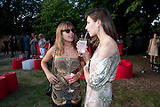 WILLA KESWICK; CAROL SIEBER, The Summer Party. Serpentine Gallery. 8 July 2010. -DO NOT ARCHIVE-© Copyright Photograph by Dafydd Jones. 248 Clapham Rd. London SW9 0PZ. Tel 0207 820 0771. www.dafjones.com.