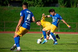 Jaka Ihbeisheh of Bravo vs Karlo Plantak of Celje during football match between NK Bravo and NK Celje in 13th Round of Prva liga Telekom Slovenije 2019/20, on October 5, 2019 in ZAK stadium, Ljubljana, Slovenia. Photo by Vid Ponikvar / Sportida