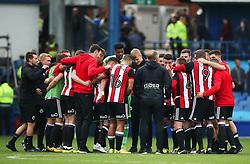 Sheffield United players huddle at full time - Mandatory by-line:  Matt McNulty/JMP - 24/09/2017 - FOOTBALL - Hillsborough - Sheffield, England - Sheffield Wednesday v Sheffield United - Sky Bet Championship