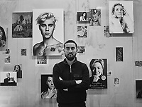 "Portrait of English artist Simon Fujiwara in his exhibition ""Hope House"" at the Kunsthaus Bregenz. His works range from paintings and photographs to installations, film and sculptures."