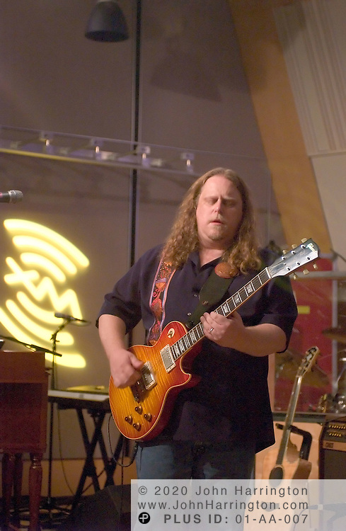 """The Allman Brothers, called by Rolling Stone's George Kimball in 1971 as """"the best damn rock and roll band this country has produced in the past five years,"""" performs at XM's Artist Confidential on Tuesday September 28, 2004."""