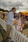 Damian Aspinall and Tatiana Mountbatten, Veuve Clicquot Gold Cup 2006. Final day. 23 July 2006. ONE TIME USE ONLY - DO NOT ARCHIVE  © Copyright Photograph by Dafydd Jones 66 Stockwell Park Rd. London SW9 0DA Tel 020 7733 0108 www.dafjones.com