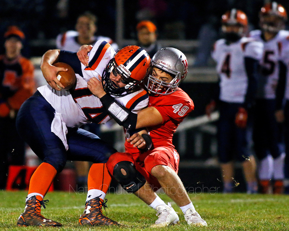 West Lafayette and North Montgomery face off in the Sectional 28 Championship in West Lafayette, Ind. on Friday, November 6, 2015.