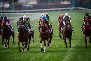 Racing Storm (blue cap) with Karis Teetan wins the Batch 7 Barrier Trails at Happy Valley Racecourse on January 20, 2018 in Happy Valley Hong Kong. (Photo: Alex Evers)