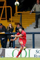 Bristol Fly-Half Matthew Morgan kicks a conversion - Photo mandatory by-line: Rogan Thomson/JMP - 07966 386802 - 14/09/2014 - SPORT - RUGBY UNION - Leeds, England - Headingley Carnegie Stadium - Yorkshire Carnegie v Bristol Rugby - Greene King IPA Championship.