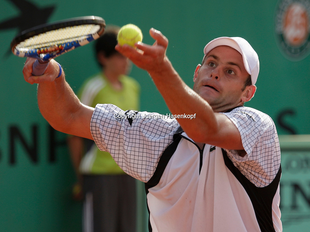 French Open 2009, Roland Garros, Paris, Frankreich,Sport, Tennis, ITF Grand Slam Tournament,  <br /> <br /> Andy Roddick (USA)<br /> <br /> Foto: Juergen Hasenkopf