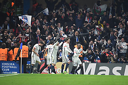 09.03.2016, Stamford Bridge, London, ENG, UEFA CL, FC Chelsea vs Paris Saint Germain, Achtelfinale, Rueckspiel, im Bild motta thiago, di maria angel, maxwell scherrer, rabiot adrien, matuidi blaise // during the UEFA Champions League Round of 16, 2nd Leg match between FC Chelsea vs Paris Saint Germain at the Stamford Bridge in London, Great Britain on 2016/03/09. EXPA Pictures © 2016, PhotoCredit: EXPA/ Pressesports/ LAHALLE PIERRE<br /> <br /> *****ATTENTION - for AUT, SLO, CRO, SRB, BIH, MAZ, POL only*****