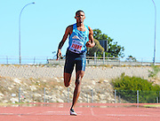 CAPE TOWN, SOUTH AFRICA - Saturday 27 February 2016, Berend Koekemoer in the mens 200m during the Western Province Athletics League Track and Field athletic meeting at the Parow Athletics Stadium. <br /> Photo by Roger Sedres/ImageSA