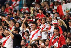 March 23, 2018 - Miami Gardens, Florida, USA - Peruvian fans during a FIFA World Cup 2018 preparation match between the Peru National Soccer Team and the Croatia National Soccer Team at the Hard Rock Stadium in Miami Gardens, Florida. (Credit Image: © Mario Houben via ZUMA Wire)