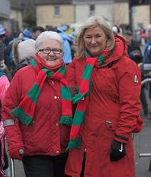 Mary Keenan from Belmullet and Annmarie May from Ballina pictured at the Mayo v Dublin league match at McHale park.<br /> Pic Conor McKeown