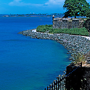 City wall in San Juan.Puerto Rico