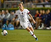 United States defender Emily Sonnett (14) in an international friendly women's soccer match, Saturday, Aug. 3, 2019,  in Pasadena, Calif., The U.S. defeated Ireland 3-0. (Dylan Stewart/Image of Sport)