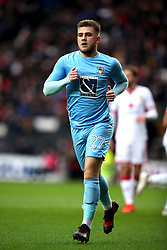 Coventry City's Josh Barrett during the Emirates FA Cup  Fourth Round match at  Stadium MK Milton Keynes.