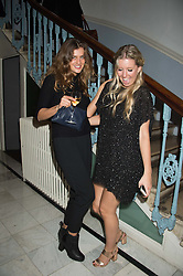 Left to right, FAYE ROGERS and LOTTIE OWEN at the Tatler Little Black Book Party at Home House Member's Club, Portman Square, London supported by CARAT on 11th November 2015.