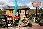 UK, Wales, Tintern an open air cafe