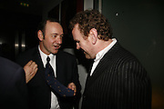 Kevin Spacey and Colm Meaney, First night  for 'A Moon For the Misbegotten' at the Old Vic.  Party at Trafalgar. London. 27 September 2006. -DO NOT ARCHIVE-© Copyright Photograph by Dafydd Jones 66 Stockwell Park Rd. London SW9 0DA Tel 020 7733 0108 www.dafjones.com
