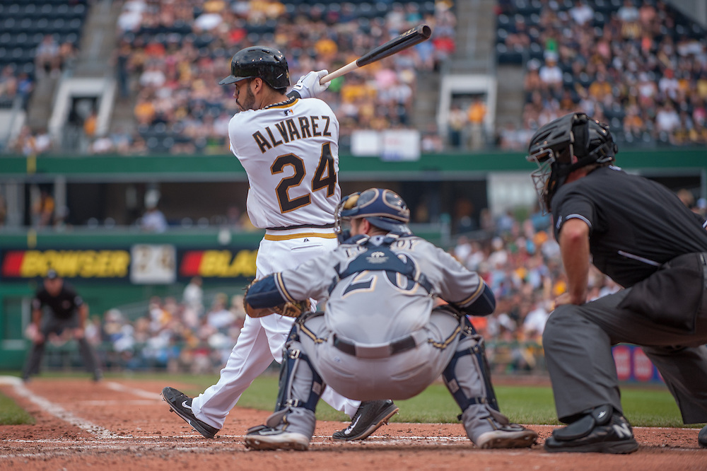 PITTSBURGH, PA - JUNE 08: Pedro Alvarez #24 of the Pittsburgh Pirates bats during the game against the Milwaukee Brewers at PNC Park on June 8, 2014 in Pittsburgh, Pennsylvania. (Photo by Rob Tringali) *** Local Caption *** Pedro Alvarez