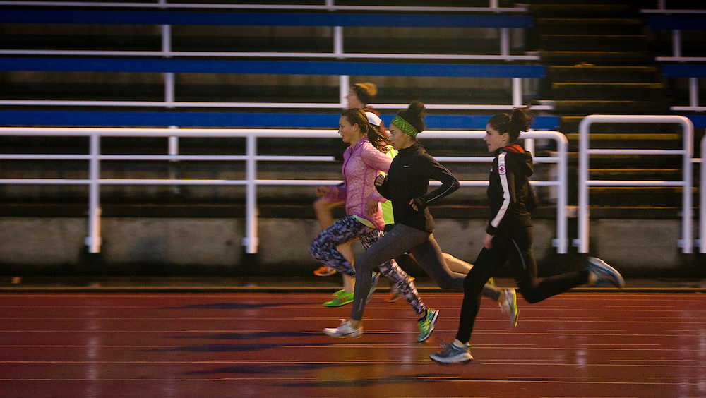 Canadian Athletes train at the University of Victoria on December 3rd, 2015 in Victoria, British Columbia Canada.