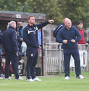Dundee under 20s manager Eddie Johnston and North End boss Dave Martin - North End v Dundee XI, pre season friendly at North End Park<br /> <br />  - &copy; David Young - www.davidyoungphoto.co.uk - email: davidyoungphoto@gmail.com