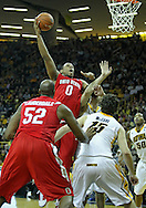 January 04 2010: Ohio State Buckeyes forward Jared Sullinger (0) puts up a shot during the second half of an NCAA college basketball game at Carver-Hawkeye Arena in Iowa City, Iowa on January 04, 2010. Ohio State defeated Iowa 73-68.