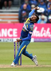 Suranga Lakmal bowls - Mandatory by-line: Robbie Stephenson/JMP - 26/06/2016 - CRICKET - Brightside Ground - Bristol, United Kingdom - England v Sri Lanka - Royal London One-day International