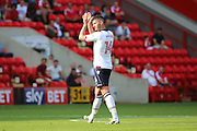 Bolton Wanderers forward Gary Madine (14) going off after scoring, getting subbed during the EFL Sky Bet Championship match between Charlton Athletic and Bolton Wanderers at The Valley, London, England on 27 August 2016. Photo by Matthew Redman.