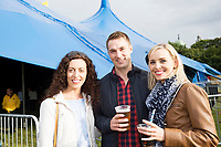 Repro Free: Corina Laffey, Athlone, Barry O'Donovan Corofin Galway and Gemma McKeague Rahoon at Gavin James who kicked off the Absolut Big Top music programme at the 40th Galway International Arts Festival. The Festival runs until 30 July and includes a world-class music line-up including Brian Wilson and his 10-piece band who this Sunday will perform the legendary album Pet Sounds in its entirety along with a string of Beach Boys hits. For more see giaf.ie   Big Top. Photo:Andrew Downes, xposure .