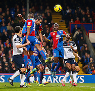 Picture by David Horn/Focus Images Ltd +44 7545 970036<br /> 09/11/2013<br /> Marouane Chamakh of Crystal Palace goes close to giving Crystal Palace the lead with a header during the Barclays Premier League match at Selhurst Park, London.