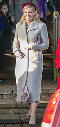 Members of The Royal Family attend Christmas Service at St Mary Magdalene Church, Sandringham, Norfolk, UK, on the 25th December 2019. 25 Dec 2019 Pictured: Sophie, Countess of Wessex. Photo credit: MEGA TheMegaAgency.com +1 888 505 6342