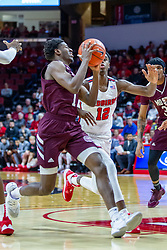 NORMAL, IL - January 07: Keandre Cook rushes in defended by Antonio Reeves during a college basketball game between the ISU Redbirds and the University of Missouri State Bears on January 07 2020 at Redbird Arena in Normal, IL. (Photo by Alan Look)