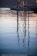 Eleonora at the Antigua yacht Club Marina at sunset