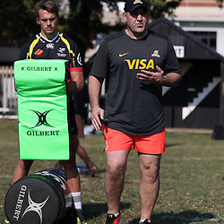 Mario Ledesma (Head Coach) of the Jaguares during the Jaguares Coaching Clinic at the Jonsson Kings Park Stadium Durban South Africa. 11,07,2018 (Photo by Steve Haag Jaguares UAR)