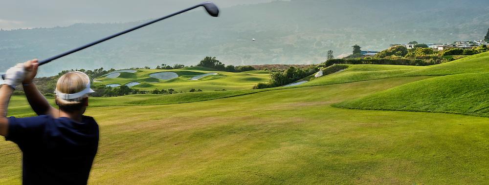 Golfing, Terranea Resort, Palos Verdes, Peninsula, California,  Mediterranean-style, resort, Links Golf Course High dynamic range imaging (HDRI or HDR)