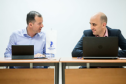 Enzo Smrekar and Jozko Krizan during meeting of Executive Committee of Ski Association of Slovenia (SZS), on March 15, 2017 in SZS, Ljubljana, Slovenia. Photo by Vid Ponikvar / Sportida