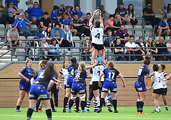 Hollie Cunningham of Bristol Bears Women in action in the line-out against Dragons Women - Mandatory by-line: Paul Knight/JMP - 02/09/2018 - RUGBY - Shaftsbury Park - Bristol, England - Bristol Bears Women v Dragons Women - Pre-season friendly