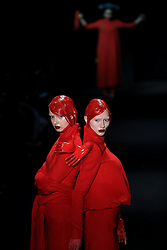 Models present creations by designer Hu Sheguang during the China Fashion Week in Beijing, capital of China, March 31, 2016. EXPA Pictures © 2016, PhotoCredit: EXPA/ Photoshot/ Li Mingfang<br /> <br /> *****ATTENTION - for AUT, SLO, CRO, SRB, BIH, MAZ, SUI only*****