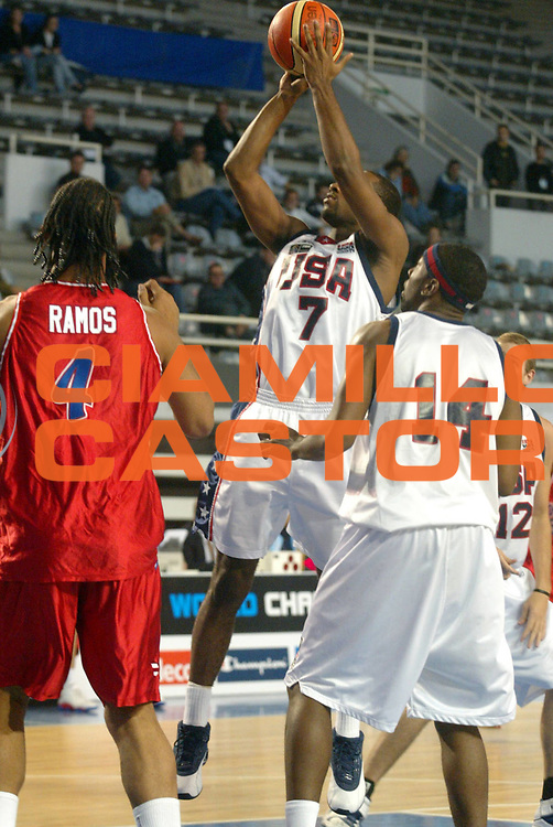 DESCRIZIONE : MAR DEL PLATA FIBA UNDER 21 WORLD CHAMPIONSHIP FOR MEN CAMPIONATO DEL MONDO UNDER 21 MASCHILE<br />GIOCATORE : COLLINS<br />SQUADRA : USA<br />EVENTO : UNDER 21 WORLD CHAMPIONSHIP FOR MAN CAMPIONATO DEL MONDO UNDER 21 MASCHILE<br />GARA : USA-PORTORICO<br />DATA : 13/08/2005<br />CATEGORIA : TIRO<br />SPORT : Pallacanestro<br />AUTORE : AGENZIA CIAMILLO &amp; CASTORIA/M.Ciamillo