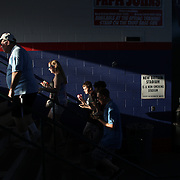 Fans head to their seating during the New Britain Rock Cats Vs Binghamton Mets Minor League Baseball game at New Britain Stadium, New Britain, Connecticut, USA. 2nd July 2014. Photo Tim Clayton