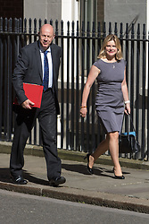 Downing Street, London, July 19th 2016. Work and Pensions Secretary Damian Green and Education Secretary Justine Greening arrive at the first full cabinet meeting since Prime Minister Theresa May took office.