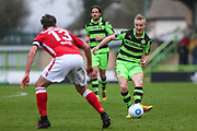 Forest Green Rovers Marcus Kelly(10) passes the ball during the Vanarama National League match between Forest Green Rovers and Wrexham FC at the New Lawn, Forest Green, United Kingdom on 18 March 2017. Photo by Shane Healey.
