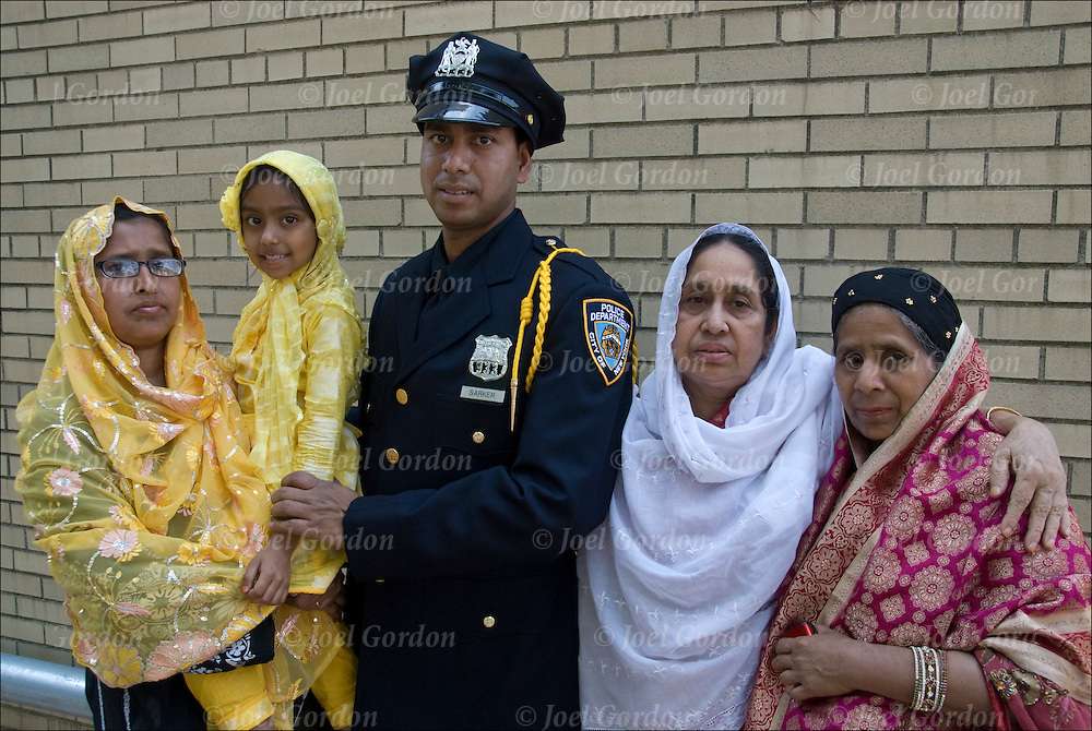 Mohammad, Bangladeshi American is a new NYPD police officer, the gold shoulder braid is for being in top 10% of his academic class.<br />