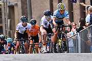 Women Road Race 129,4 km, Anelies DOM (Belgium), during the Cycling European Championships Glasgow 2018, in Glasgow City Centre and metropolitan areas, Great Britain, Day 4, on August 5, 2018 - Photo Dario Belingheri / BettiniPhoto / ProSportsImages / DPPI - Belgium out, Spain out, Italy out, Netherlands out -