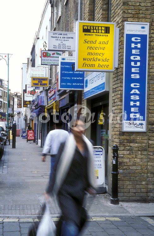 Shops in Brick Lane London Borough of Tower Hamlets UK