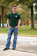 Kameron Star, Stuckey Scholarship recipient, poses for a portrait at the Ohio University Lancaster Campus..Photo by Chris Franz