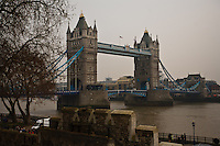 Tower Bridge as viewed from the Tower of London, London, England.