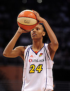 Sep 5, 2010; Phoenix, AZ, USA; Phoenix Mercury guard DeWanna Bonner (24) shoots a free throw against the Seattle Storm during the first half in game two of the western conference finals in the 2010 WNBA Playoffs at US Airways Center.  The Storm defeated the Mercury 91-88.  Mandatory Credit: Jennifer Stewart-US PRESSWIRE