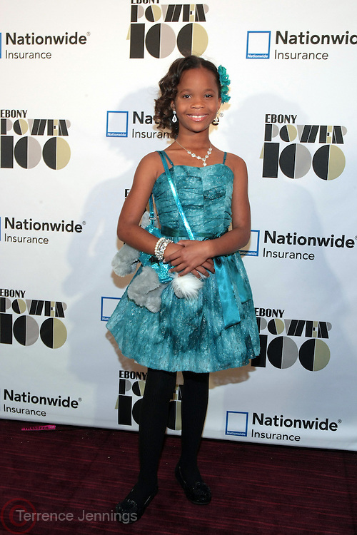 November 2, 2012- New York, NY: Actress Quvenzhane Wallis(Honoree) at the Ebony Power 100 Gala Presented by Nationwide held at Jazz at Lincoln Center on November 2, 2012 in New York City. The EBONY Power 100 Gala Presented by Nationwide salutes the country's most influential African Americans. (Terrence Jennings)