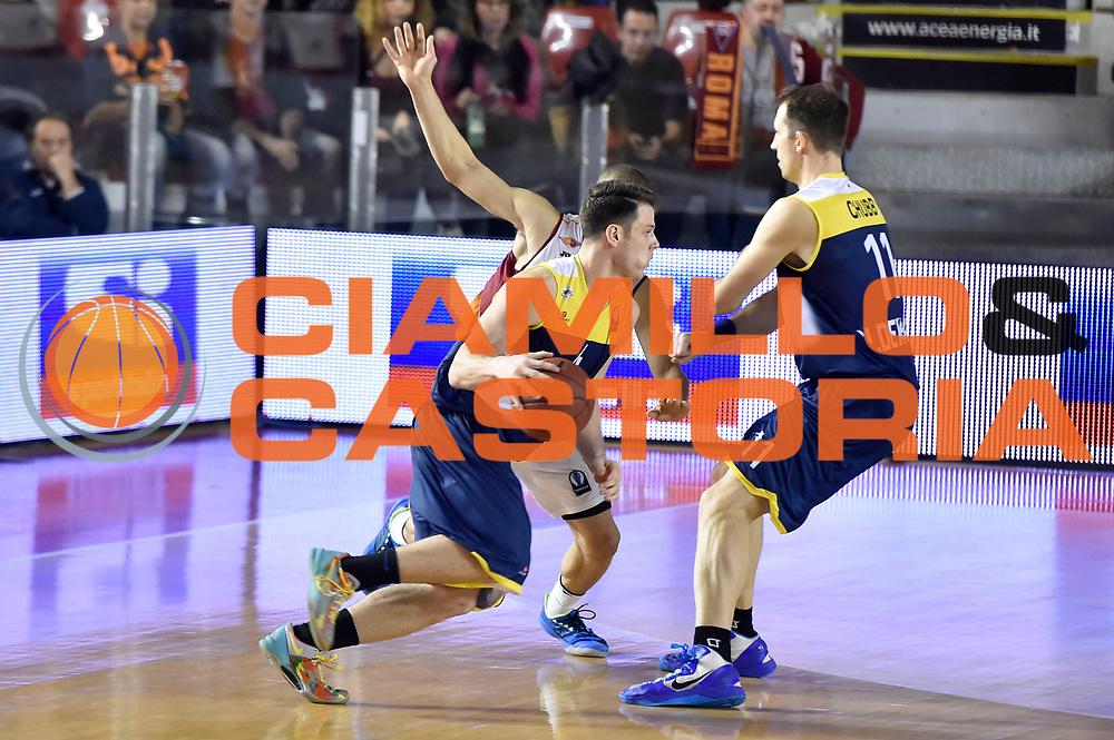 DESCRIZIONE : Eurocup 2014/15 Acea Roma Ewe Basket Oldenburg<br /> GIOCATORE : Brandon Triche<br /> CATEGORIA : difesa controcampo blocco sequenza<br /> SQUADRA : Acea Roma<br /> EVENTO : Eurocup 2014/15<br /> GARA : Acea Roma Ewe Basket Oldenburg<br /> DATA : 12/11/2014<br /> SPORT : Pallacanestro <br /> AUTORE : Agenzia Ciamillo-Castoria /GiulioCiamillo<br /> Galleria : Acea Roma Ewe Basket Oldenburg<br /> Fotonotizia : Eurocup 2014/15 Acea Roma Ewe Basket Oldenburg<br /> Predefinita :