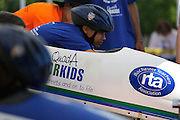 Miguel Torres, 12, waits for the start of his race at a local soapbox derby race on Lakeshore Boulevard in Irondequoit on Saturday, May 31, 2014. Eighty-two competitors raced in six divisions, with the winner of each division advancing to the world championships in Akron, Ohio.
